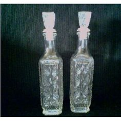 Cut Glass Decanter Wine Liquor - Set of 2 Listing in the Other,Crystal & Cut Glass,Glass,Porcelain, Pottery & Glass Category on eBid United States