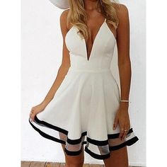 lovely Summer dress in white with black details