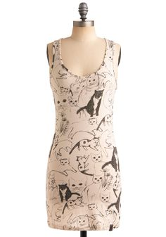 The perfect catlady tunic to wear whilst cuddling on the couch with my ball o' fur and whiskers.