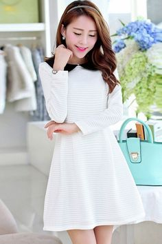 Women's Fashion Sweet Peter Pan Collar Dress - OASAP.com LABOR DAY SALE EVENT up to 90 OFF. 21% Off Coupon: Labor2014