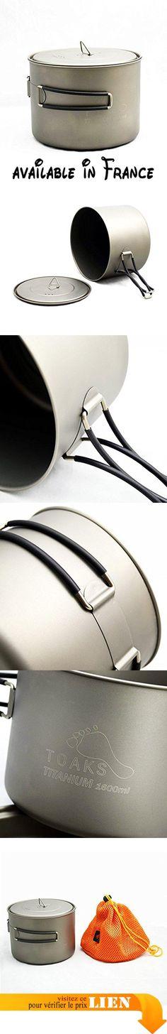 B078JR2SVQ : toaks Camping Vaisselle en titane pur en plein air de peut être utilisé comme Tasses Bols et casseroles 1600ml. Matériau de titane pur. Santé protection de l'environnement léger facile à nettoyer. Grande capacité qui peut accueillir beaucoup de choses. Peut être utilisé comme pot peut également être utilisé comme tasse. Poignée peut être plié afin de réduire le volume de stockage. Plusieurs la capacité peut être sélectionné à différentes
