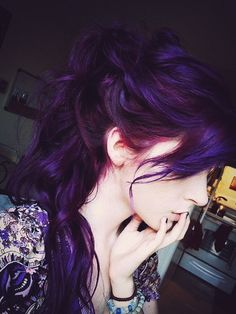 lush deep purple hair