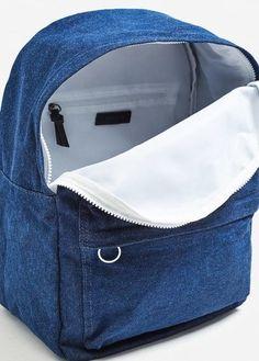 Denim collection, Front pocket, Top zipper, Inner pocket, Adjustable strap  Джинсовый Рюкзак c8c4db4fd8e