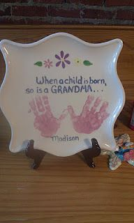 Hand print plates...great for Mother's Day and Father's Day