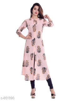 Kurtis & Kurtas Women's Printed Cotton Kurti Fabric: Cotton  Sleeves: 3/4 Sleeves Are Included Size: M - 38 in , L - 40 in, XL - 42 in, XXL - 44 in Length: Up To 46 in Type: Stitched Description: It Has 1 Piece Women's Kurti Work: Printed Sizes Available: M, L, XL, XXL *Proof of Safe Delivery! Click to know on Safety Standards of Delivery Partners- https://ltl.sh/y_nZrAV3  Catalog Rating: ★4 (216)  Catalog Name: Kaira Fancy Cotton Printed Kurtis Vol 1 CatalogID_98581 C74-SC1001 Code: 124-851390-