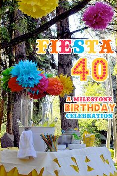 REAL PARTIES: Fiesta 40 Birthday Party. I LOVE everything about this party since I saw it on HWTM a year and a half ago.