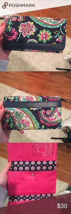 Tri-fold Vera Bradley wallet Tri fold wallet. Has coin pouch and tons of card slots Vera Bradley Bags Wallets