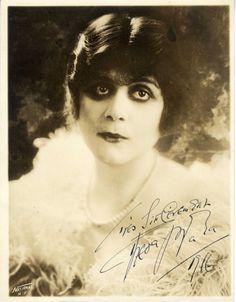 Theda Bara Inscribed Autographed Dated Portrait 1916 Vntg Orig 7x9 VF | eBay