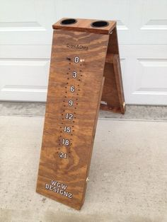 Cornhole Scoreboard and Bag Storage Drink Holder | eBay