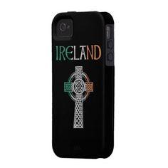 Ireland Celtic Cross iPhone 4 Case