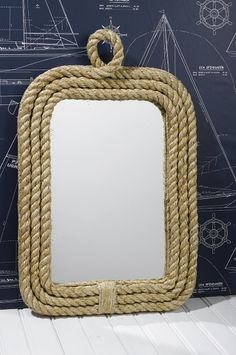 Explorer room - Rope mirror. Wonder if I could DIY this with son's existing mirror?