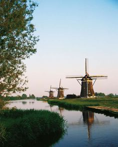 UNESCO World Heritage Site - Kinderdijk, the Netherlands.
