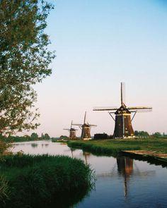 UNESCO World Heritage Site - Kinderdijk, the Netherlands.