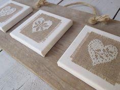 Finished Heart Cross Stitch decoration