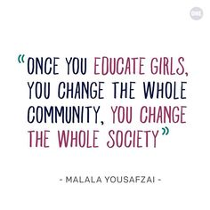 ❤️ You continue to be an inspiration to girls and women around the world! Malala Yousafzai, Wednesday Wisdom, Education And Training, World Leaders, Powerful Women, Infographic, Around The Worlds, Happy Birthday, Facts