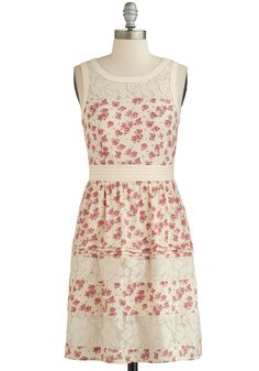 Country Rose, Take Me Home Dress. Dressed up or dressed down, this floral dress belongs with you! #cream #modcloth