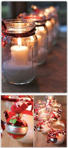 Decorated Jars For Christmas Over 30 Fantastic Christmas Mason Jar Crafts  Christmas