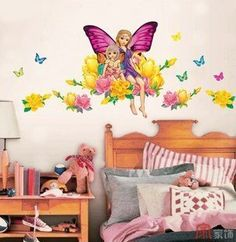 Home Decor Mural Art Wall Paper Stickers-Butterfly fairy CP-042 by Victoria's deco, http://www.amazon.com/dp/B002MC56CQ/ref=cm_sw_r_pi_dp_ZBEXpb0ECMJNY