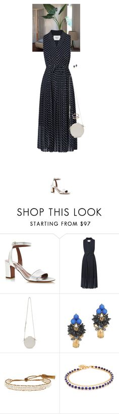 """Outfit of the Day"" by wizmurphy ❤ liked on Polyvore featuring Tabitha Simmons, L.K.Bennett, Kara, J.Crew, Lena Skadegard, Astley Clarke, stripes and ootd"