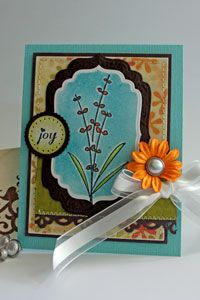 A cool crayon resist card making technique seen on the Split coast stampers website.