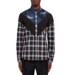 Givenchy - Printed Checked Cotton Shirt|MR PORTER