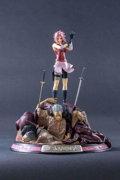 Estatua Sakura Haruno 29 cm. Naruto. Tsume Espectacular estatua en todos los sentidos de Sakura Haruno (Tsume) de 29 cm aprox., una de las protagonistas del manga/anime Naruto. Una estatua preciosa muy bien detallada.