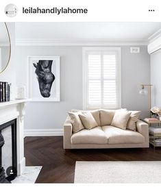 Go timeless with herringbone. Pictured here is our Vintage Smoked Herringbone Parquetry. Parquetry Floor, Kustom, Neutral Tones, Floor Pillows, Paint Colors, Accent Chairs, New Homes, Couch, Flooring