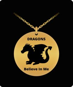 Dragons Believe In Me Pendant Laser Engraving, Dragons, 18k Gold, Believe, Necklaces, Pendant, Design, Hang Tags