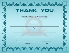 Thank you certificate template thank you certificate templates thank you certificate yelopaper Choice Image