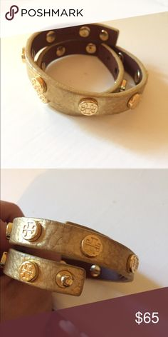 Tory burch wrap bracelet. 100% authentic. Great condition. Gold color Tory Burch Jewelry