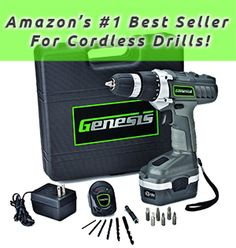 Genesis GCD18BK 18v Cordless Drill/Driver Kit - Cordless Drill Reviews, the best cordless drills of 2013