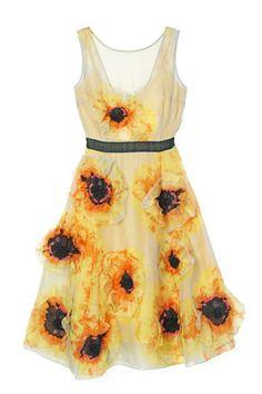 Tracy Reese Vincent Van Gogh Sunflower Dress