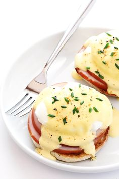 My all-time favorite recipe for classic Eggs Benedict -- made easy with a simple blender Hollandaise sauce and poached eggs. Perfect for breakfast or brunch!   gimmesomeoven.com