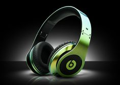 Green Gold Chameleon Beats by Dre Headphones