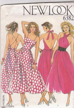 1980s vintage sewing pattern for backless by beththebooklady, $9.99