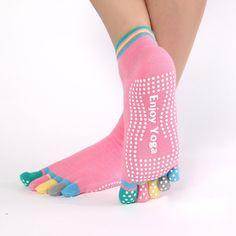 Women Sports Colorful Yoga Socks Hot Fitness And Pilates Cotton Socks Rainbow Workout Anti Slip Toe Socks Breathable Purple Pilates Socks, Barre Socks, Yoga Socks, Pilates Barre, Buy Socks, Socks For Sale, Grippy Socks, Sock Store, Fashion Shoes