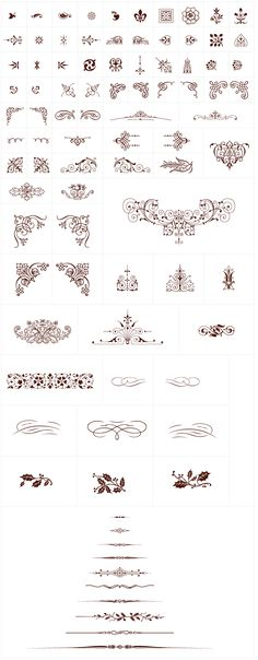 Vintage Vector Ornaments