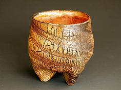 Akira Satake - Stoneware Cup, kohiki glaze, - 3 x 3 x 3 inches