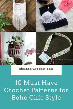 This is a round up of 10 amazing crochet boho patterns for you and your home. These beautiful crochet patterns capture the free boho spirit beautifully! Crochet boho style magic for your wardrobe and for your home from boho crochet vest, boho style bags and shawl and many many more! Boho Crochet Patterns, Basic Crochet Stitches, Crochet Lanyard, Boho Style, Boho Chic, Crochet Home Decor, Beautiful Crochet, Free Crochet, Boho Fashion