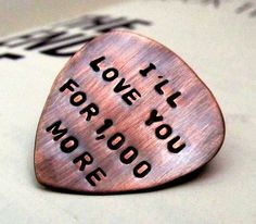 Custom Guitar Pick  Personalized Dad Gift  by FiredUpLadiesHammer, $14.00