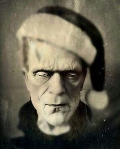 When you just can't choose between Halloween and Christmas - tag a friend who feels the same! ❄️♂️ A lil #holidayhorror keeps the season bright #frankenstien #horrorjunkie #halloweenvschristmas