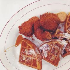 Chicken & Waffles at Hearty Kitchen in West Hartford, CT. Also serving Fried Chicken & Gluten Free Fried Chicken, fresh made to order everytime.     #westhartford #weha #connecticut