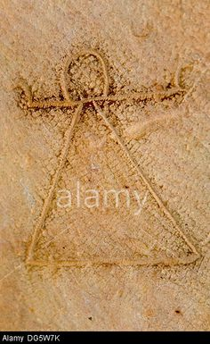 Tunez: Carthage.Carthage Museum. Symbol of Tanit. Stock Photo
