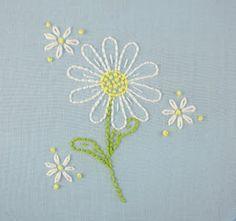big B: Daisy Embroidery Pattern Packet