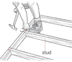 How to build an interior wall that easily tips up into place without the top plate colliding with the ceiling before the studs come into plumb.