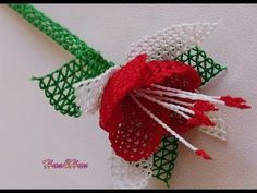 Tespih başlığı iğne oyaları NEWROZ ÇİÇEĞİ Anlatımlı video - YouTube Christmas Wreaths, Christmas Ornaments, Needle Lace, Lace Making, Diy And Crafts, Make It Yourself, Holiday Decor, Flowers, How To Make