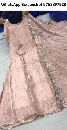 Long gown with duptta Size - dolla silk Work - pita + biziya gota Pakistani Fancy Dresses, Pakistani Fashion Party Wear, Indian Fashion Dresses, Pakistani Dress Design, Indian Designer Outfits, Fancy Dress Design, Stylish Dress Designs, Designer Party Wear Dresses, Kurti Designs Party Wear