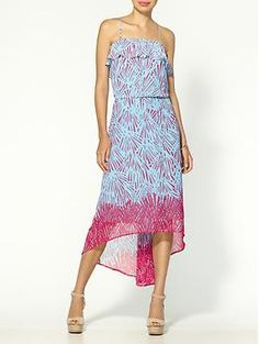 Collective Concepts Ruffle Geo Maxi Dress | Piperlime