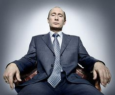 Art that is political: Vladimir Putin, by Platon, photo with wide angle lens, 2007