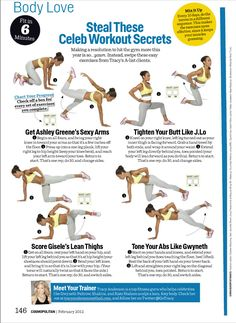 Steal These Celeb Workout Secrets - Tracy Anderson, Fit In 6 Minutes, Cosmopolitan, Cosmo